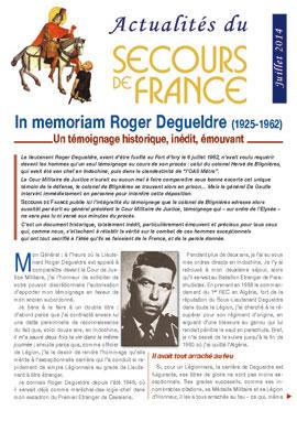 DEGUELDRE Roger lieutenant 1er REP - fusillé au Fort d'Ivry le 6 juillet 1962 - Page 2 12060